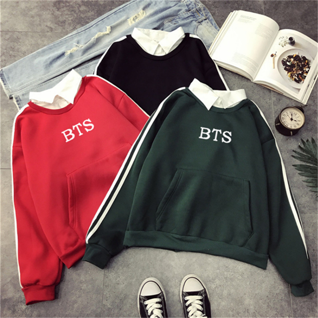 BTS SWEATSHIRT WITH POCKET (3 COLORS)