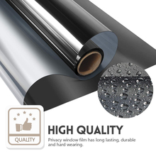 Window Film One Way Mirror Silver Insulation Stickers Privacy Anti-UV Heat Control Reflective Glass Tint Film Home Decoration waterproof self adhesive uv high light mirror reflective film heat insulation opaque film decoration pet reflective sticker
