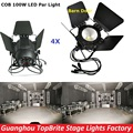 4XLot LED COB Par Light 100W High Brightness Aluminium Case White and Warm White 100W COB LED Par Light For Stage Disco Lights