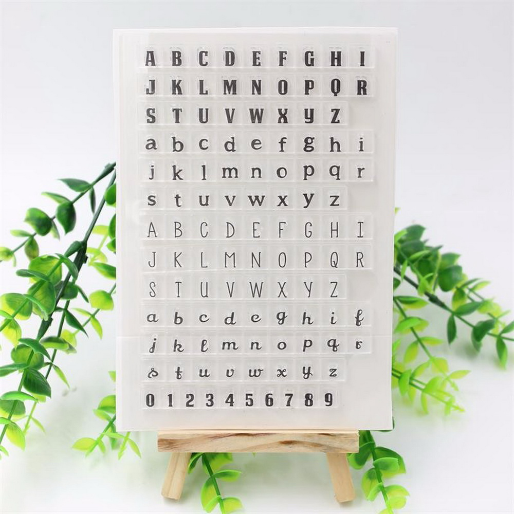 Rubber stamps arts and crafts - English Alphabet 0 9 Numbers Scrapbook Diy Photo Cards Account Rubber Stamp Clear Stamp Transparent Stamp Diy Arts Crafts