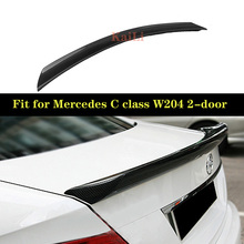 Carbon Fiber Rear Trunk Spoiler Wing Lip for Mercedes-Benz C-Class W204 C180 C200 C250 C300 C63 Coupe 2-door 2008-2014 цена в Москве и Питере