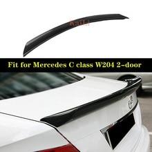 цена на Carbon Fiber Rear Trunk Spoiler Wing Lip for Mercedes-Benz C-Class W204 C180 C200 C250 C300 C63 Coupe 2-door 2008-2014