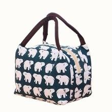 Etya модная парусиновая изолированные обед мешок тепловой для Для женщин малыш Для мужчин девушка охладитель Коробки для обедов сумка Портативный сумка для пикника