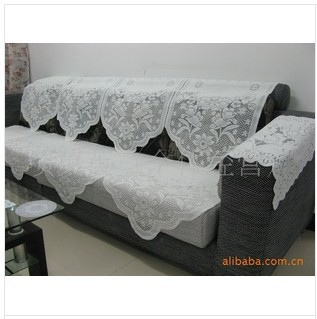 Free Shipping Supply Net Sofa Cloth Lace Cushion Cover Back Towel Terry Scarf Fu In From Home Garden On Aliexpress