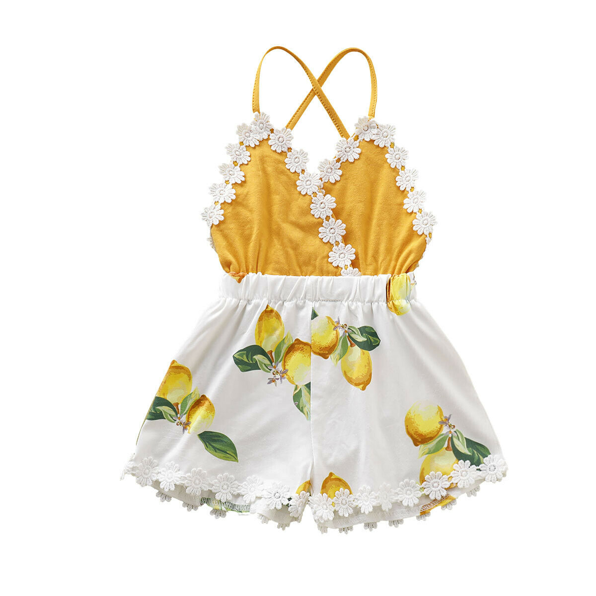 a8057d34f6bc2 0-4Y Summer Infant Kids Baby Girl Strap Romper Floral Print Lace Sleeveless  Belt Jumpsuits