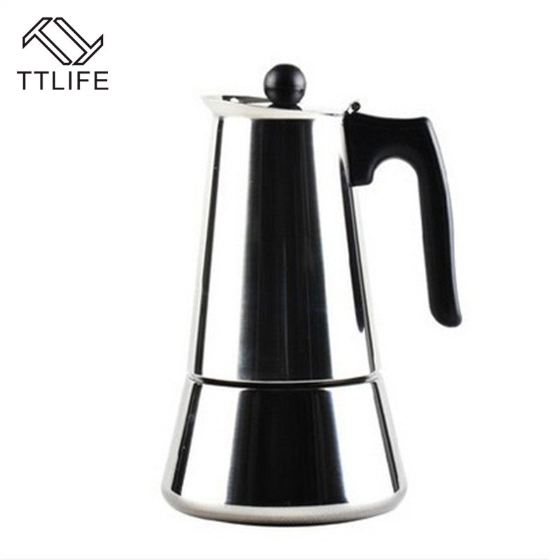 How To Use Coffee Maker Kettle : TTLIFE Stainless Steel Moka Coffee Maker Espresso Latte Stovetop Filter Coffee Pot Mocha Coffee ...
