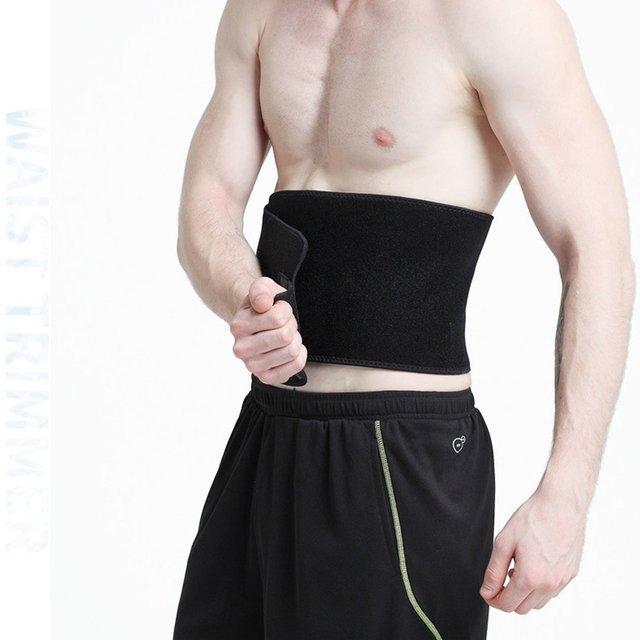 New Adjustable Waist Tummy Trimmer Slimming Sweat Belt Fat Burner Body Shaper Wrap Band Weight Loss Burn Exercise quemador de gr 2
