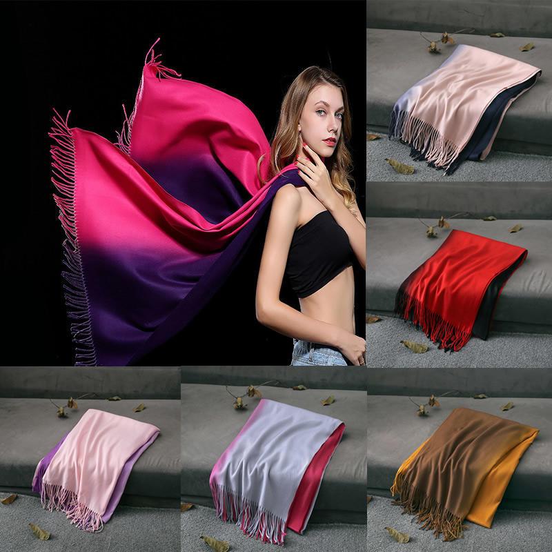 Women Fashion Cashmere Solid Pashmina   Scarf     Wraps   Warm Blanket   Scarves
