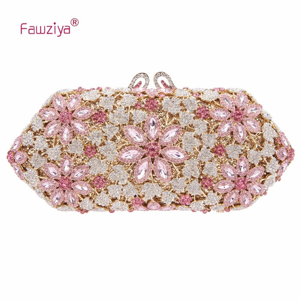 Fawziya Women Clutch Bags 2017 Cherry Blossoms Crystal Purses And Handbags For Women Formal fawziya bag silver crystal clutch evening bags for womens purses and handbags