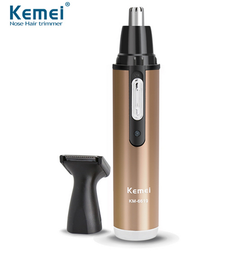 KM-6629 Fashion Electric Shaving Nose Hair Trimmer Safe Face Care Shaving Trimmer For Nose Trimer Free Shipping