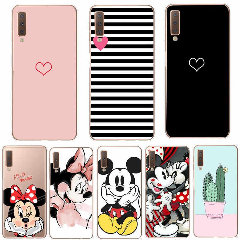 Mickey Minnie Dành Cho Coque Samsung A7 2018 Ốp Lưng TPU Mềm Fundas Dành Cho Samsung Galaxy Samsung Galaxy S9 S10 Plus S10E S 10 Lite J530 Túi