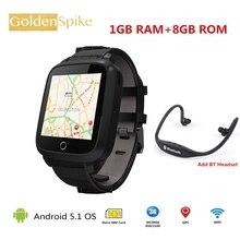 Лучшие 2018 U11S PK X01S Бизнес часы 1 г Оперативная память 8 г Встроенная память MTK6580 4 ядра WI-FI Bluetooth GPS сердечного ритма Мониторы смарт-часы Android 5.1