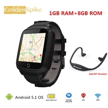 2018 U11S PK X01S Business Watch 1G RAM 8G ROM MTK6580 Quad Core WIFI Bluetooth GPS Heart Rate Monitor Smart Watch Android 5.1