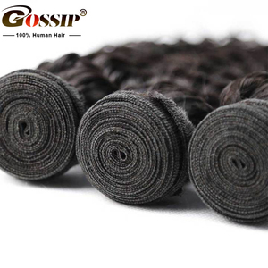 Image 4 - Gossip Deep Wave Bundles Deal Brazilian Hair Weave Bundles 100% Human Hair Weaves Non Remy Hair Extension 8 28 Bundles