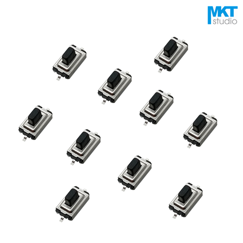 100Pcs Sample 3*6*3.8mm Black Button SMD Micro Push Button Tactile Tact Momentary Switch