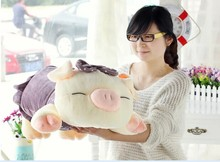 big cartoon cute plush pig toys lovely pig pillow toy purple spot stuffed doll birthday  gift about 75cm