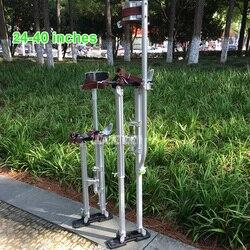 Новый 24 -40 Регулируемый Профессиональный алюминиевый штукатурный Stilt лестница Гипсокартон Штукатурки сценический реквизит интерьерная д...