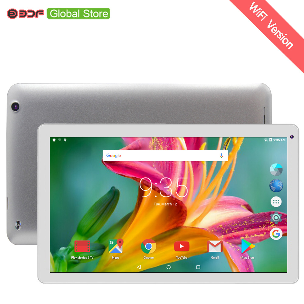 2018 New WiFi Tablet Pc 10.1 Inch Android 5.1 Quad Core 1GB 32GB Tablets HD Display Screen Tab Support Extend TF Card