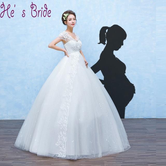 Court Train Pregnant Women\'s Wedding Dresses 2017 New Lace Wedding ...
