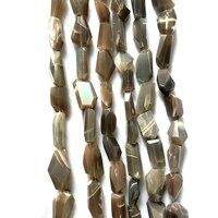 Genuine Gray Moonstone Faceted Nugge Beads 12 20mm Gray Sunstone Feldspar Gem Stone Beads Cutting,1 of 15strand