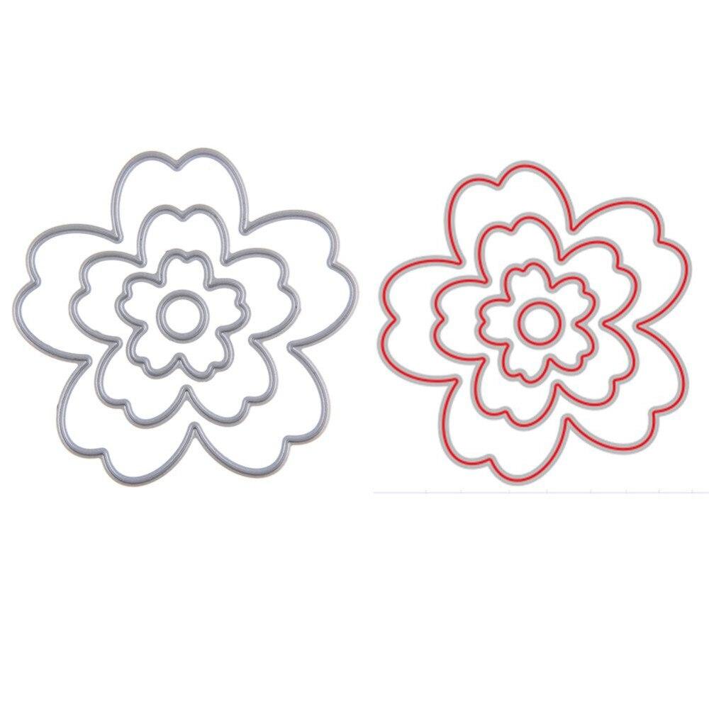 Aliexpress Com Beli Bunga Logam Pemotongan Mati Stensil Untuk