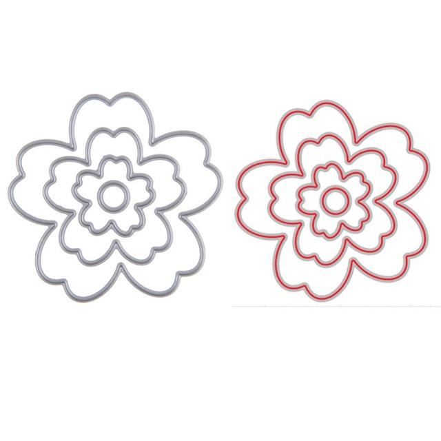 flower metal cutting dies stencils for scrapbooking album paper card
