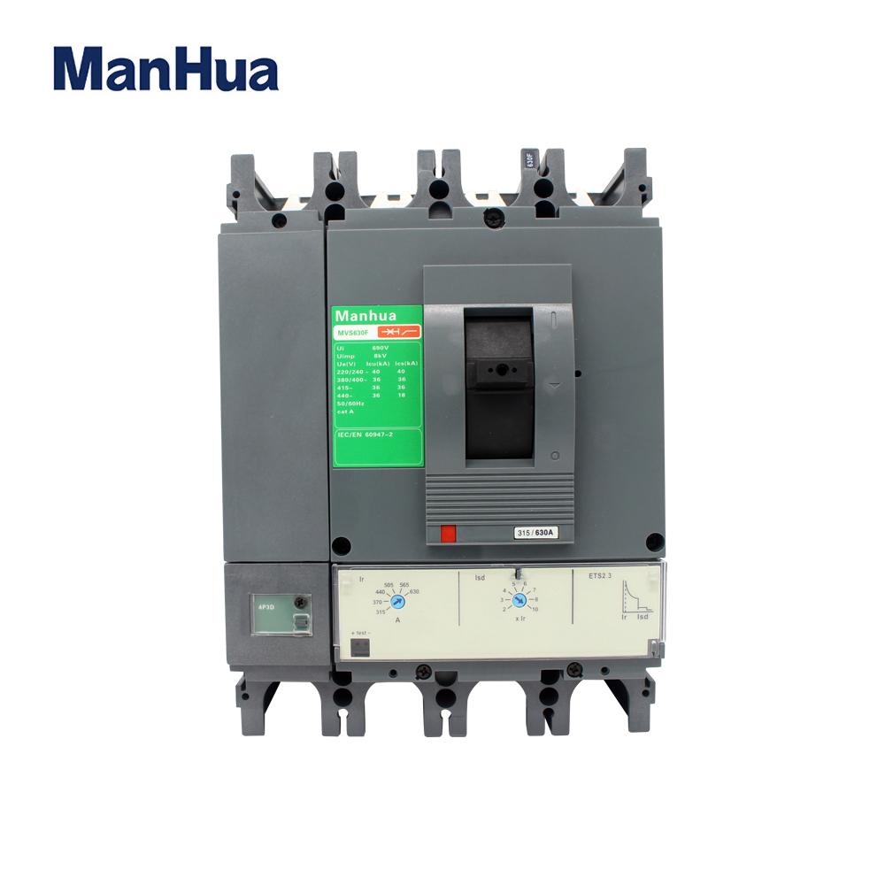 Manhua 4P 630A Electrical CVS 630F Four Phase Relay Protection Voltage Moulded Case Circuit Breaker Diferencial