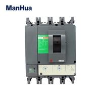 Manhua 4 P 630A электрические CVS 630F четыре фазы реле защиты напряжение литой корпус автоматический выключатель Diferencial электрико