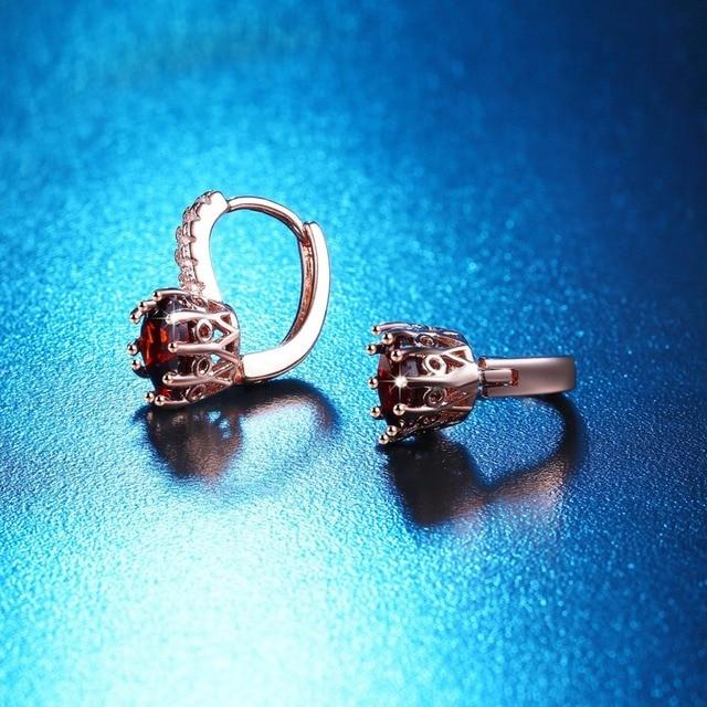 US STOCK Uloveido Korean Wedding Earrings for Women Earings with Red Heart Stones Rose Gold Color.jpg 640x640 - US STOCK Uloveido Korean Wedding Earrings for Women Earings with Red Heart Stones Rose Gold Color Stud Earring HE515