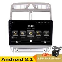 Android 8,1 2.5D ips экран автомобильный DVD видео плеер gps навигация Мультимедиа для peugeot 307 Радио 2004 2005 2006 2010 2011 2013
