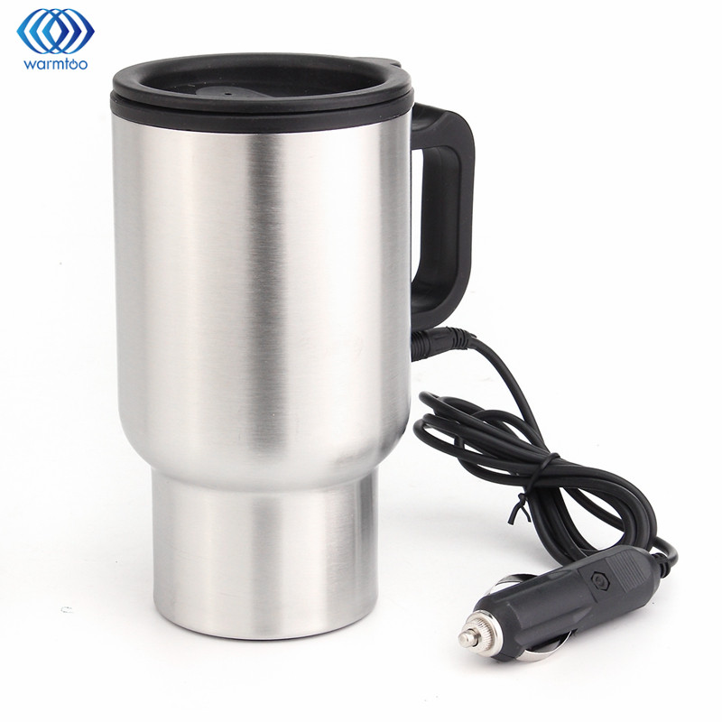 450ml Car Hot Kettle Vehicle Mounted Thermal Travel Cup Handy Cup thermostat Bottle Coffee Heated Mug Water Heater 12V 348ml car heating cup stainless steel dc12v car heated travel mug thermos heating cup kettle car coffee cup auto adapter