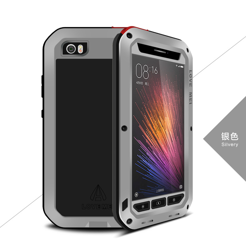 finest selection 4d010 d471b US $23.99 |For Xiaomi Mi5 LOVE MEI Powerful Waterproof Shockproof Dirtproof  Aluminum Cases Metal Cover for Xiaomi mi 5 M with Gorilla Glass on ...