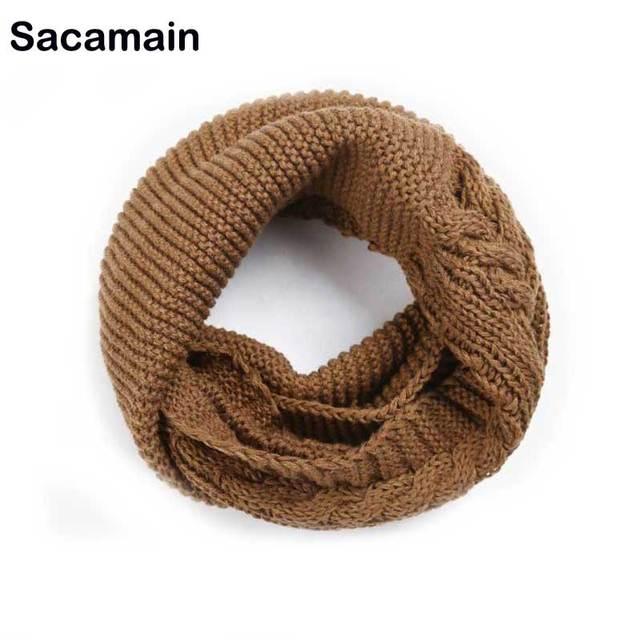 24b1d794 € 10.88  Moda invierno bucles bufanda del infinito para las mujeres de  punto cuello anillo bufanda mujer de ganchillo bufandas Echarpe Foulard  Femme ...