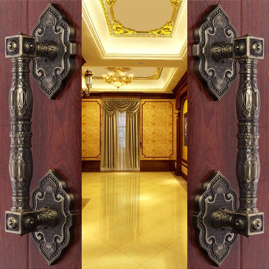 Free Ktv Bronze Handle European Palace Wooden Door New Glass Pulls Villa Artificial Gate In Handles From Home