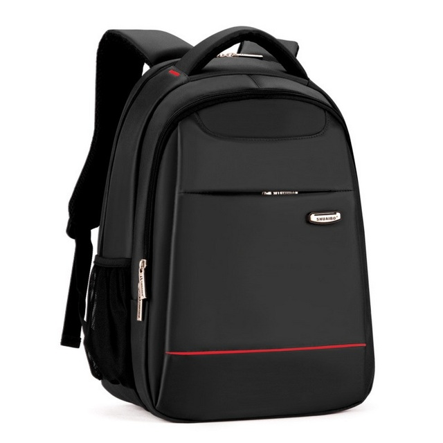 fba83f8af5e8 15 Inch Polyester Men s Back Pack Men Business Laptop Bag College Student  Campus Backpack Mochila School Bags Compact Backpack