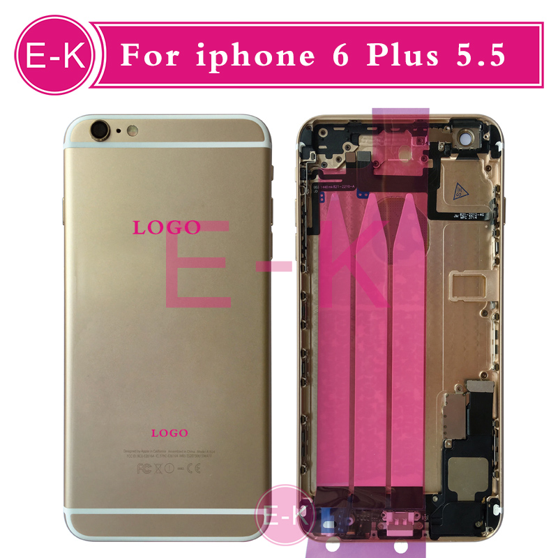 New high quality For iphone 6 Plus 5 5 housing Full assembly Battery Cover with Flex