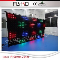 P10cm flexible led advertising display screen 7ft x 14ft wholesale portable led curtain video display