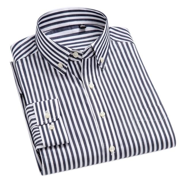 100% Cotton High-Grade Oxford Striped Social Shirts  2