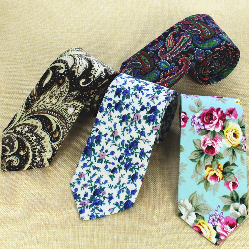 GUSLESON Fashion Design Brand New 8 Cm Necktie Cotton Ties For Men Wedding Paisley Corbatas Party Floral Gravatas Neck Tie