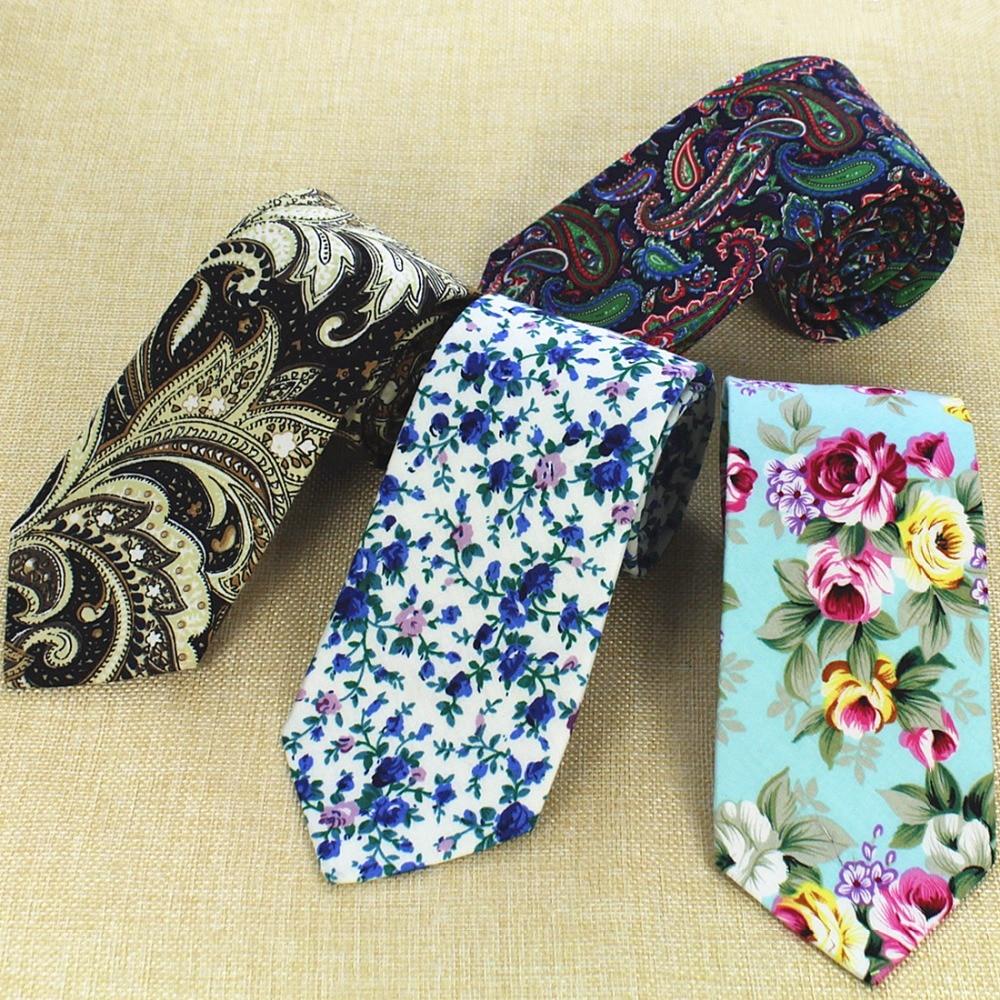GUSLESON Fashion Design Brand New 8 Cm Necktie Cotton Ties For Men Wedding Paisley Corbatas Party Floral Gravatas Neck Tie
