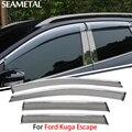 4 pçs/lote Para Ford Kuga Fuga 2013 2014 2015 Janela Do Carro Da Viseira Sun Chuva Escudo de Cobre Exterior Decoração Auto Acessórios