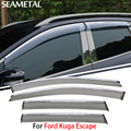 4pcs/lot For Ford Kuga Escape 2013 2014 2015 Car Window Visor Sun Rain Shield Covers Exterior Decoration Auto Accessories