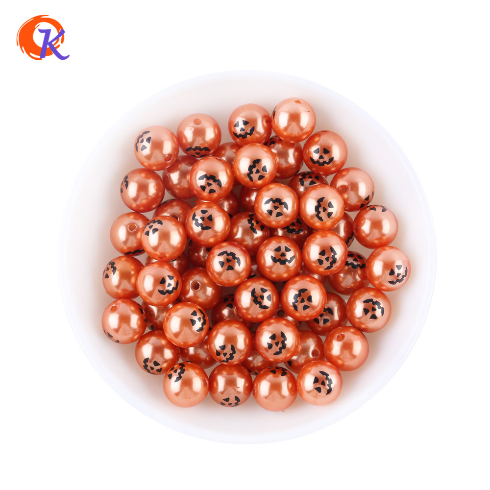 Cordial Design 12MM 200Pcs/Lot Pumpkin Face Printed Beads For Halloween Theme Necklace Bracelets Jewelry Accessories CDWB-701293 200pcs lot 2sa950 y 2sa950 a950 to 92 transistors