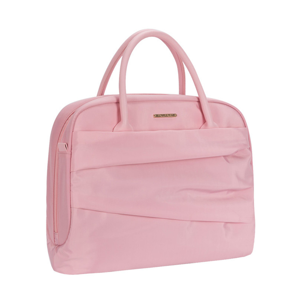 цена на Women Laptop Briefcase for 12 13 14 Inch Computer Pink Oxford Shockproof Handbag for Macbook Air Pro Dell OL Lady Shoulder Bag