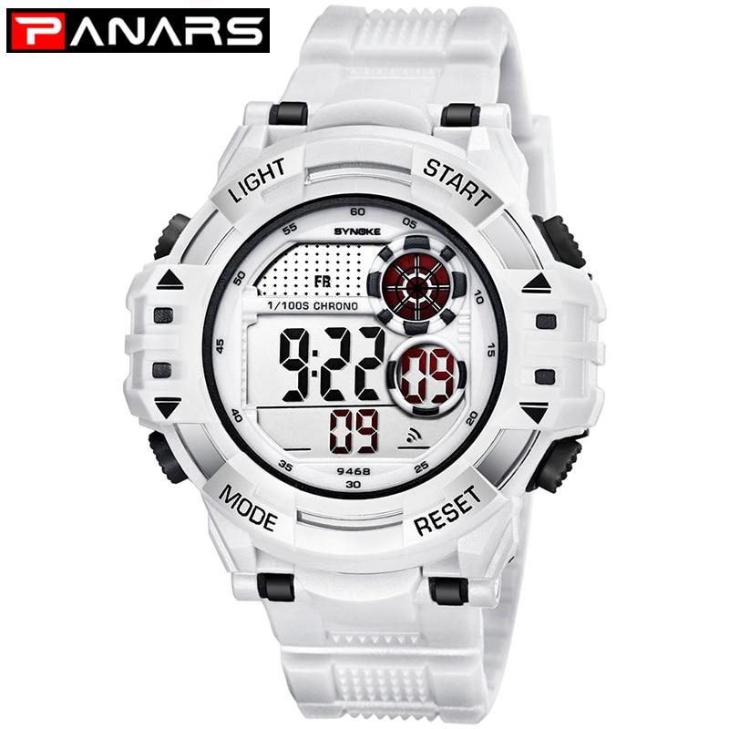 PANARS Outdoor Sports Watches Men Climbing Running Digital Wristwatches Big Dial Military Alarm Shock Resistant Waterproof Watch