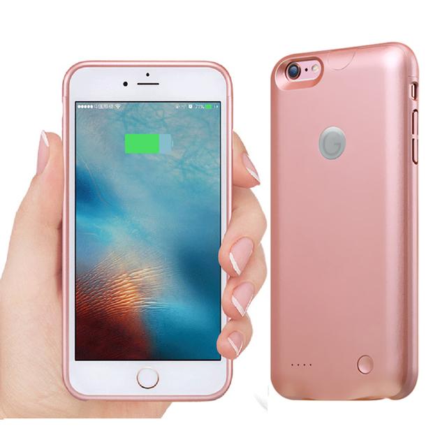 Para iphone 6 6 s caso carregador de bateria 2500 mah recarregável portátil caso o poder de backup de energia caixa de bateria externa para iphone 6 6 S