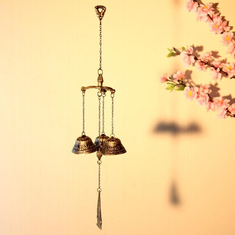 Japán stílusú vasöntés szél harangjáték Vintage harang és - Lakberendezés