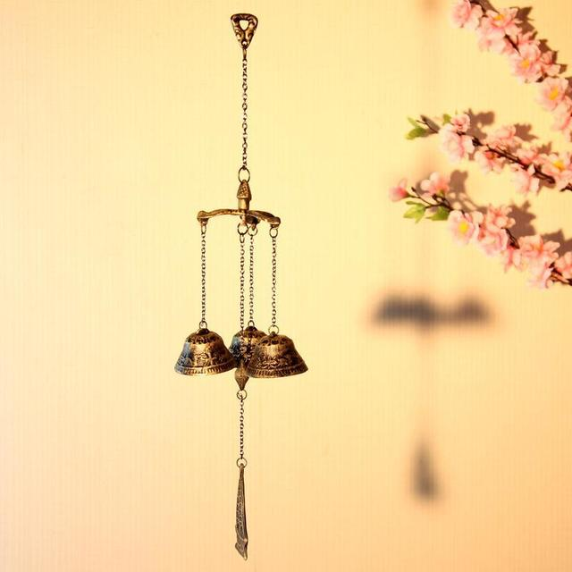Wonderful Japanese Style Iron Casting Wind Chime Vintage Bell and Boat Wind  ZK35
