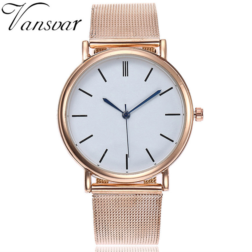 2018 Fashion women watches vansvar Casual Quartz Stainless Steel Band Marble Strap Watch Analog Wrist Watch relogio masculino relogio masculino watch fashion lovers men women leather band quartz analog wrist watch casual bracelet watches wrist wholesale