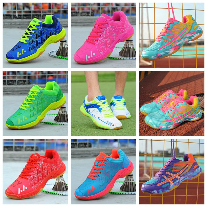 Hot Couple Badminton Shoes Men Light Breathable Professional Training Shoe Women Girl High Quality Sneakers Adult